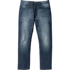 """Dżinsy Regular Fit Straight bonprix ciemnoniebieski """"used"""". Niebieskie jeansy męskie regular bonprix. Za 109,99 zł."""
