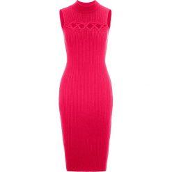 Sukienka bonprix czerwony. Czerwone sukienki hiszpanki bonprix, z krótkim rękawem, mini, dopasowane. Za 79,99 zł.