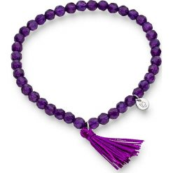 Bransoletki damskie na nogę: Bransoletka w kolorze fioletowym