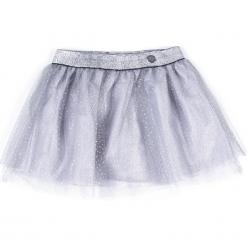 Spódnica. Szare spódniczki dziewczęce z falbankami ELEGANT BABY GIRL, z poliamidu. Za 54,90 zł.