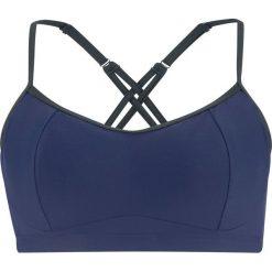 Biustonosz bikini na fiszbinach bonprix niebieski. Niebieskie biustonosze sportowe bonprix. Za 69,99 zł.