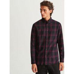 Koszula w kratę regular fit - Fioletowy. Fioletowe koszule męskie marki Cropp, l. Za 99,99 zł.