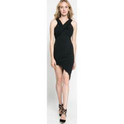 Missguided - Sukienka. Szare sukienki asymetryczne marki Mohito, l, z asymetrycznym kołnierzem. W wyprzedaży za 59,90 zł.