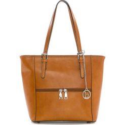 Torebki klasyczne damskie: Skórzana torebka w kolorze brązowym – 32 x 27 x 16 cm