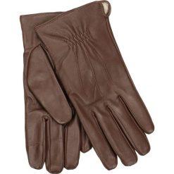 Rękawiczki męskie. Brązowe rękawiczki męskie Gino Rossi, ze skóry. Za 139,90 zł.