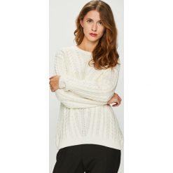 Medicine - Sweter Basic. Szare swetry klasyczne damskie MEDICINE, l, z bawełny, z okrągłym kołnierzem. W wyprzedaży za 79,90 zł.