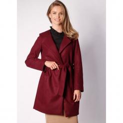 Płaszcz w kolorze bordowym. Zielone płaszcze damskie wełniane marki Last Past Now, xs, w paski. W wyprzedaży za 299,95 zł.