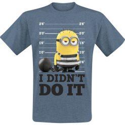 T-shirty męskie: Minions I Didn't Do It T-Shirt odcienie niebieskiego