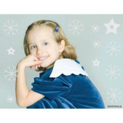 Sukienka z draperią na rękawku i skrzydłami. Szare sukienki dziewczęce Pakamera, z bawełny. Za 178,00 zł.