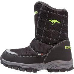 KangaROOS PUDDLE Śniegowce jet black/lime. Niebieskie buty zimowe chłopięce marki KangaROOS. W wyprzedaży za 146,30 zł.