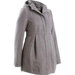 Płaszcz ciążowy z kapturem, z regulacją obwodu bonprix szary melanż. Szare kurtki ciążowe bonprix, na jesień. Za 219,99 zł.
