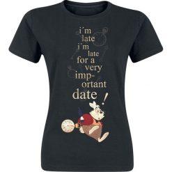 Odzież damska: Alicja w Krainie Czarów Important Date Koszulka damska czarny