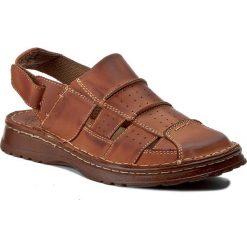 Sandały WALDI - 0038 Brąz Bufallo. Brązowe sandały męskie skórzane marki Waldi. Za 99,00 zł.