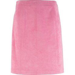 Spódnica welurowa z zamkiem bonprix matowy różowy. Czerwone spódniczki bonprix, z weluru. Za 89,99 zł.