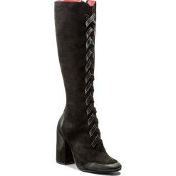 Kozaki CARINII - B4301 360-E50-PSK-C00. Czarne buty zimowe damskie marki Carinii, z nubiku. W wyprzedaży za 309,00 zł.