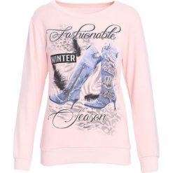 Jasnoróżowa Bluza Like an Angel. Szare bluzy damskie Born2be, l, z nadrukiem, z dresówki. Za 39,99 zł.