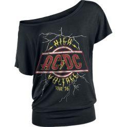 Bluzki asymetryczne: AC/DC High Voltage Tour '76 Koszulka damska czarny