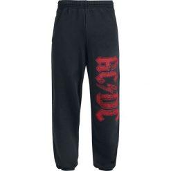 AC/DC Logo Spodnie dresowe czarny. Czarne spodnie dresowe męskie AC/DC, z dresówki. Za 164,90 zł.