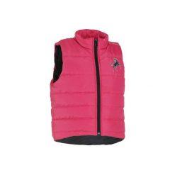 Kamizelka Safy różowa. Czerwone kamizelki dziewczęce marki Reserved, z kapturem. W wyprzedaży za 39,99 zł.