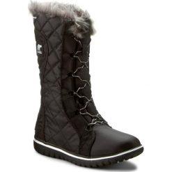 Buty zimowe damskie: Śniegowce SOREL – Cozy Cate NL2363-010 Black/Sea Salt