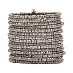 Bransoletki damskie na nogę: Bransoletka w kolorze srebrnym