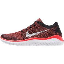 Nike Performance FREE RUN FLYKNIT 2018 Obuwie do biegania neutralne bright crimson/white/black. Czerwone buty do biegania męskie marki Nike Performance, z materiału. Za 549,00 zł.