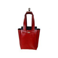 Shopper bag damskie: Shopper – duża czerwona torba