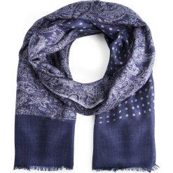 Szal męski SZG0002206. Niebieskie szaliki męskie Giacomo Conti, na jesień, paisley, z tkaniny. Za 139,00 zł.