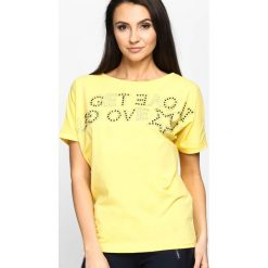 Bluzki, topy, tuniki: Żółty T-shirt End To Front