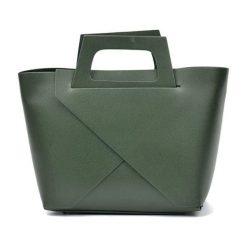 Torebki i plecaki damskie: Skórzana torebka w kolorze zielonym – (S)25 x (W)40 x (G)12 cm