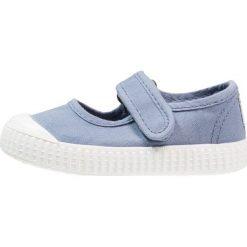 Baleriny damskie lakierowane: Victoria Shoes VELCRO TINTADA Baleriny z zapięciem azul
