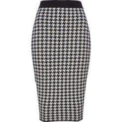 Spódnica dzianinowa bonprix czarno-biel wełny. Białe spódnice wieczorowe marki QUIOSQUE, s, z haftami, z tkaniny, dopasowane. Za 74,99 zł.