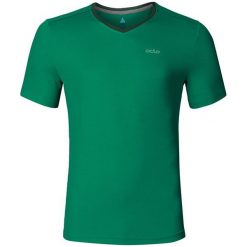 Odlo Koszulka tech. Odlo T-shirt s/s v-neck JONNY - 221812 - 221812/40187/L. Zielone koszulki sportowe męskie Odlo, l. Za 103,35 zł.