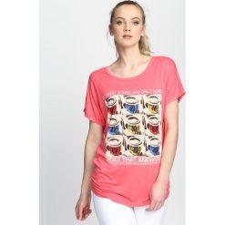 Bluzki damskie: Różowy T-shirt Fun And Games