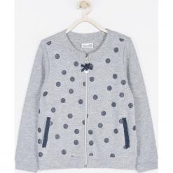 Bluza. Szare bluzy dziewczęce rozpinane marki SPARKLE, z aplikacjami, z długim rękawem, długie. Za 79,90 zł.