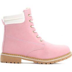 Buty zimowe damskie: Rózowe Trapery Earthy Brown