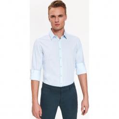 KOSZULA Z NADRUKIEM REGULARNA. Białe koszule męskie marki bonprix, z klasycznym kołnierzykiem. Za 79,99 zł.
