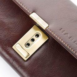 Elegancki brązowy duży portfel ze skóry HAROLD`S. Brązowe portfele męskie Harold's, ze skóry. Za 69,90 zł.