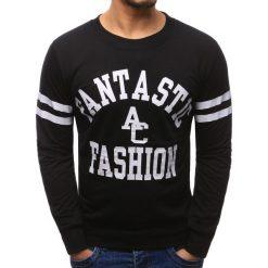 Bluzy męskie: Bluza męska z nadrukiem czarna (bx1222)