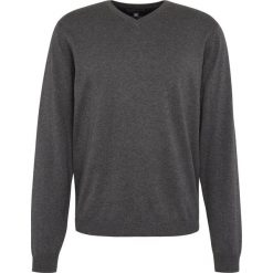 Finshley & Harding - Sweter męski z dodatkiem kaszmiru, szary. Czarne swetry klasyczne męskie marki Finshley & Harding, w kratkę. Za 229,95 zł.