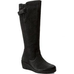 Buty zimowe damskie: Kozaki CAPRICE - 9-26613-29 Black Nubuc 008