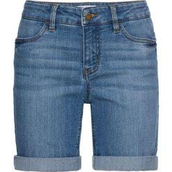 Wygodne szorty dżinsowe ze stretchem bonprix niebieski. Niebieskie bermudy damskie bonprix, z jeansu. Za 74,99 zł.