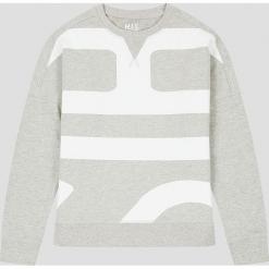 Bluza w kolorze szarym. Szare bluzy rozpinane damskie H.I.S, xs, z nadrukiem, z bawełny. W wyprzedaży za 121,95 zł.