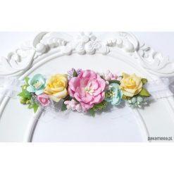 Ozdoby do włosów: Filipola opaska do włosów WIANEK kwiaty NEW BORN