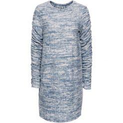 Sukienki dla puszystych: Sukienka z marszczeniami bonprix niebieski dżins melanż