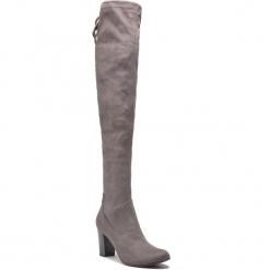 Muszkieterki CAPRICE - 9-25504-21 Dk Grey Stretc 250. Szare buty zimowe damskie Caprice, z materiału. W wyprzedaży za 189,00 zł.