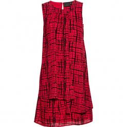Sukienka szyfonowa bonprix czerwono-czarny wzorzysty. Czerwone sukienki balowe bonprix, z szyfonu. Za 89,99 zł.