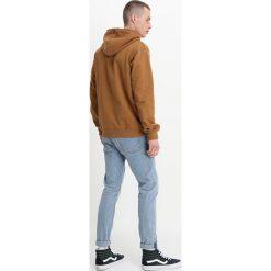Dickies NEVADA Bluza z kapturem brown duck. Szare bluzy męskie rozpinane marki Dickies, na zimę, z dzianiny. Za 259,00 zł.