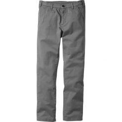 Rurki męskie: Spodnie ze stretchem chino Slim Fit Straight bonprix szary