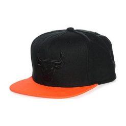 Czapki męskie: Czapka w kolorze czarno-pomarańczowym